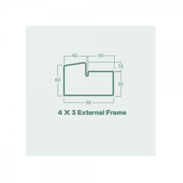 4 x 3 external frame